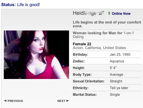 Best female dating profiles examples