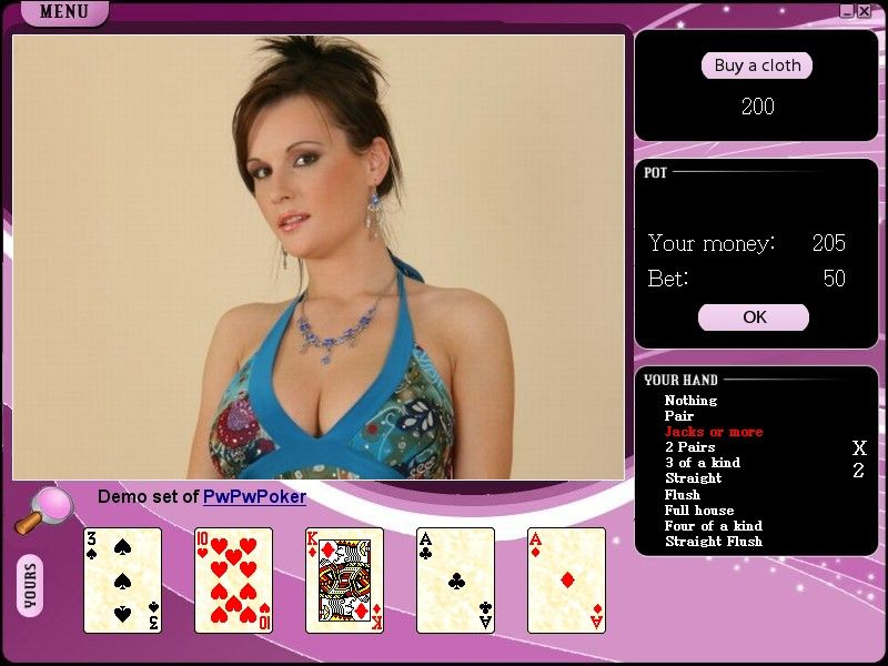 Strip poker game Online - solo or multiplayer