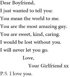 Poems for the best boyfriend ever
