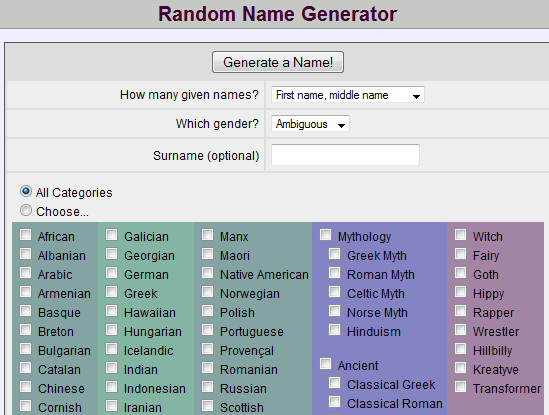Cool names for games generator