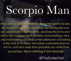 All about a scorpio man