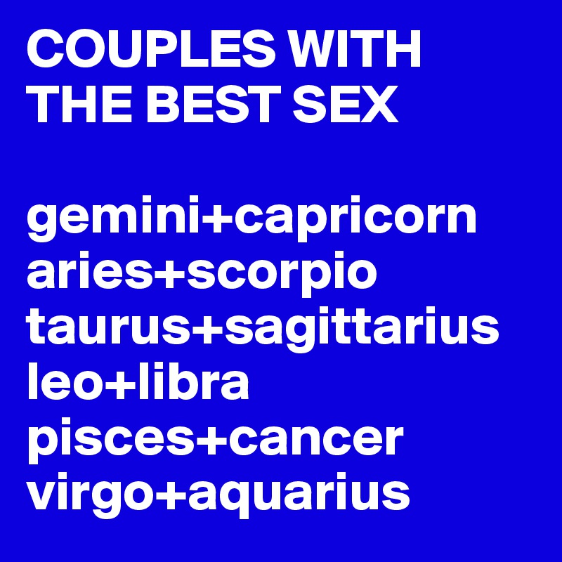 Libra and leo sexually