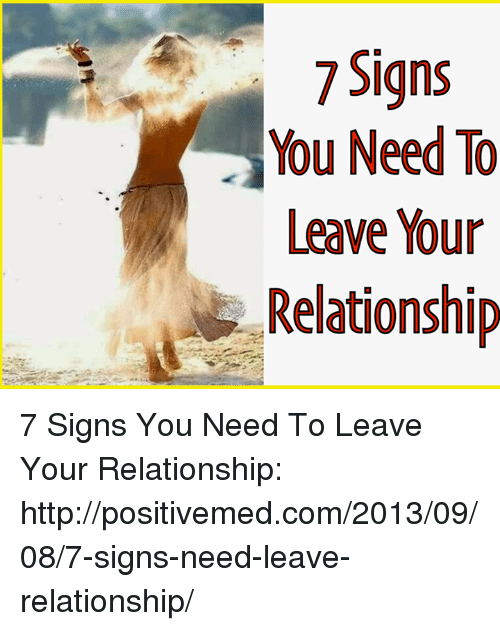 Signs to leave a relationship